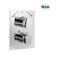 Aria термостат для ванны/душа в комплекте со встраиваемым механизмом/частями для наружного/ скрытого монтажа (ARI-CHR-39671HF)