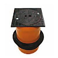 Телескопическая труба DN/OD 315 с крышкой, класс нагрузки B125 (12,5 т), с уплотнительной манжетой, без вентиляционных отверстий